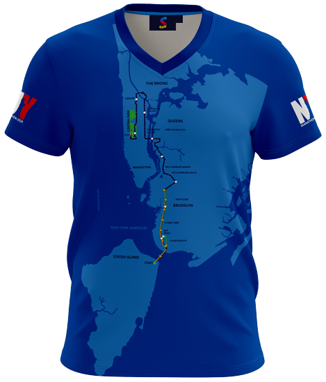Sublimatix New York marathon running shirt